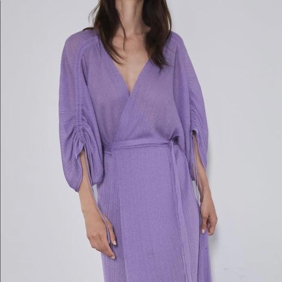 Zara Dresses & Skirts - Zara maxi wrap dress xs/s